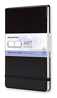Moleskine - Art Collection, Álbum de Acuarela, Cuaderno de Dibujo, Tapa Dura, Papel Adecuado para Lápices y Pinturas de Acuarela, Color Negro, Tamaño Grande 13 x 21 cm, 72 Páginas (8883705629) | Amazon price tracker / tracking, Amazon price history charts, Amazon price watches, Amazon price drop alerts