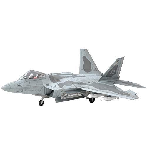 ELVVT 01:33 US F-22 Raptor Fighter 3D-bouwplaat DIY puzzel Toy Document Ambacht 3d puzzels Aircraft Model Building Kits speelgoed cadeau