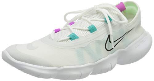 Nike Herren Free RN 5.0 2020 Running Shoe, White/Black-Summit White, 44.5 EU