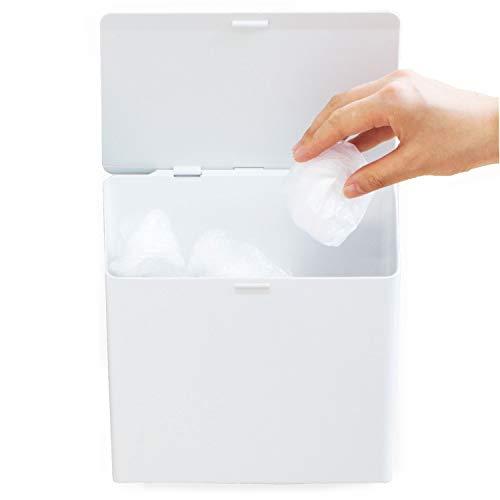 オカ PLYS Base (プリス ベイス) ホワイト 20.5cm×22cm×9.5cm プリスベイス レジ袋ストッカー (マジックテープ付き)