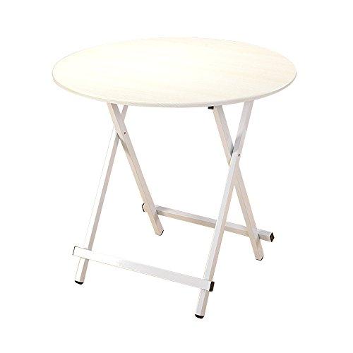 TT-Folding tafel klaptafel, massief houten eettafel voor het huishouden, stalen framehouder, eenvoudige uittrekbare ronde tafel, eenvoudige salontafel - 7 kleuren (draagbaar)
