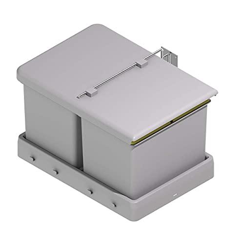 Cubos de Basura y Reciclaje con Tapa automática para cajón de Cocina - 16L + 16L