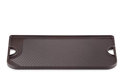 Le Creuset Piastra Reversibile in Ghisa, Adatta a Tutte le Fonti di Calore, Eccetto i Piani di Cottura a Induzione, 47 x 23 cm, Nero