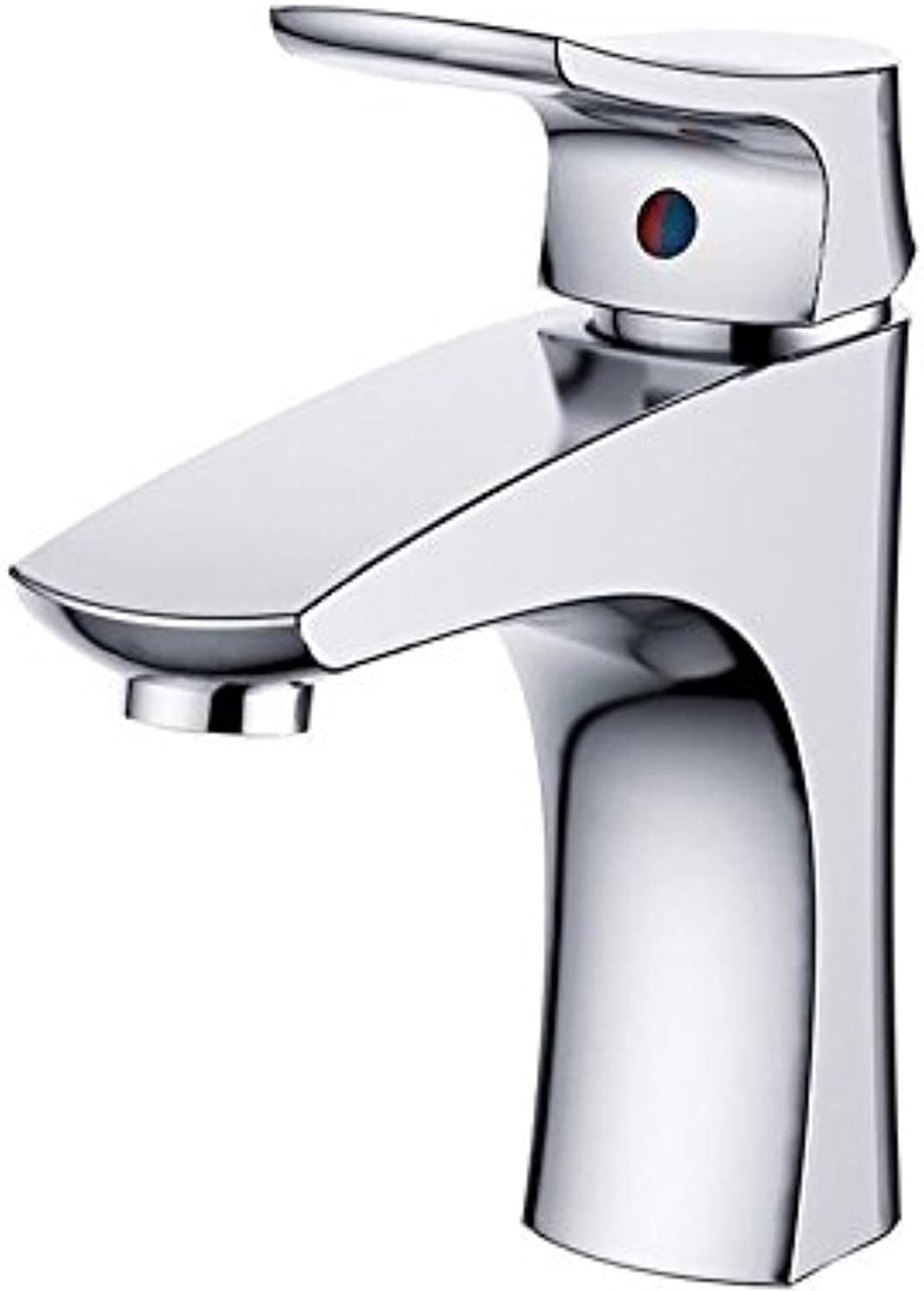 Makej New Basin Faucet Bathroom Basin Taps Basin Mixer Waterfall Bathroom Chrome Cold and Hot Water Tap Deck Mounted