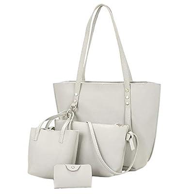 Amazon - Save 80%: 4PC Women Fashion Backpack Shoulder Wallet Bag Top Handle Satchel Pu…