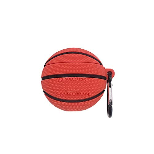 RGBIWCO - Airpods Case, Unique Basketball Football Pattern, Soft Silicone Airpods Protective Case Shockproof Cover with Carabiner for Airpods 1/2 Charging Box
