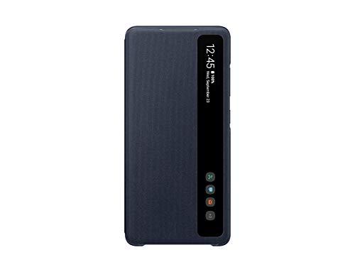 Samsung Clear View Smartphone Cover EF-ZG780 für Galaxy S20 FE Flip Cover, Handy-Hülle, extra-dünn, stoßfest, Schutz Hülle, Dunkelblau - 6.5 Zoll