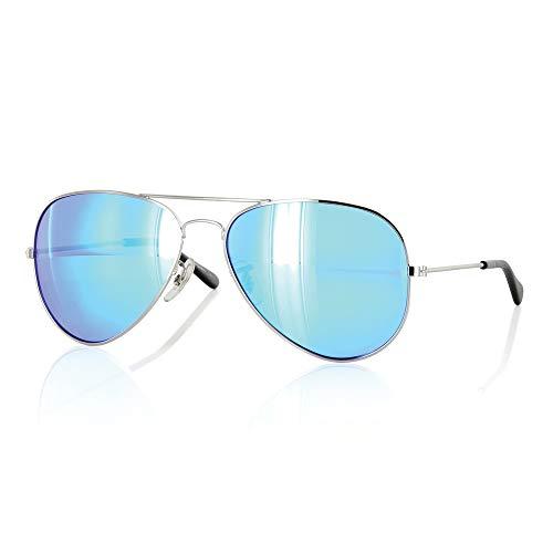 Carve Sky Walkers Gafas de Sol, Unisex, Silver Revo, 57