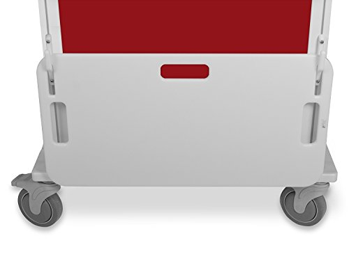 TrippNT 51512 High Density Polyethylene Element Healthcare Cart Cardiac Board, 28' W x 14' H x 2' D