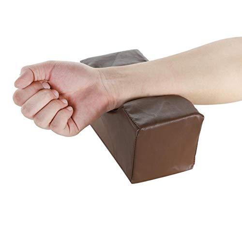 Almohada de soporte de cuña 2 colores para aliviar el dolor de piernas(Brown, 20 * 10 * 10cm)