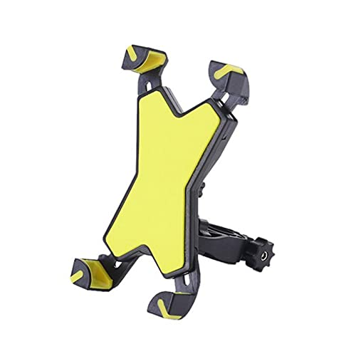 zis Titular de teléfono móvil Mountain Bike Manillar Teléfono Teléfono GPS Soporte de Soporte de navegación / (Color : Yellow)