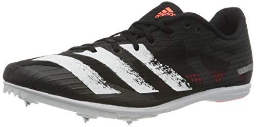 adidas Herren Distancestar Track and Field Shoe, Core Black/Footwear White/Signal Coral, 41 1/3 EU