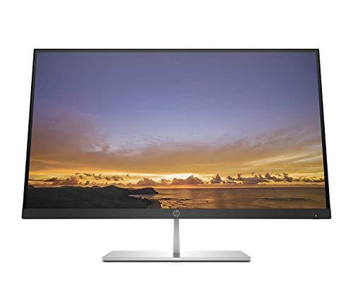 HP Pavilion 27 Quantum Dot Monitor, 27 Pollici QHD, Risoluzione 2560 x 1440, Tecnologia AMD FreeSync, Micro-Edge, Antiriflesso, Comandi sullo Schermo, Reclinabile, USB-C, DisplayPort, HDMI, Grigio