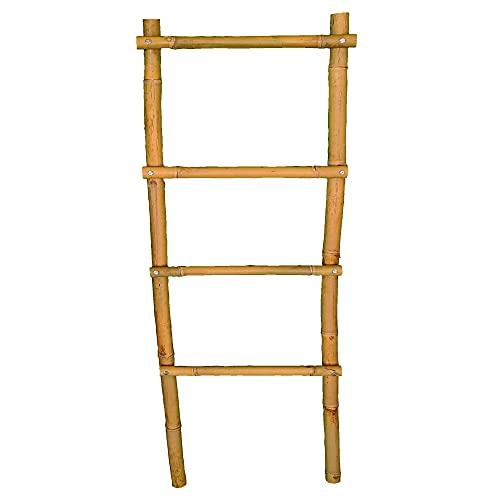 DECORMETALICA Escalera Toallero Juego Accesorios Baño Madera Bambú