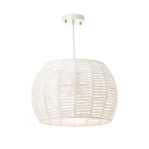Lámpara de techo de metal blanca de 23x35x35 cm - LOLAhome