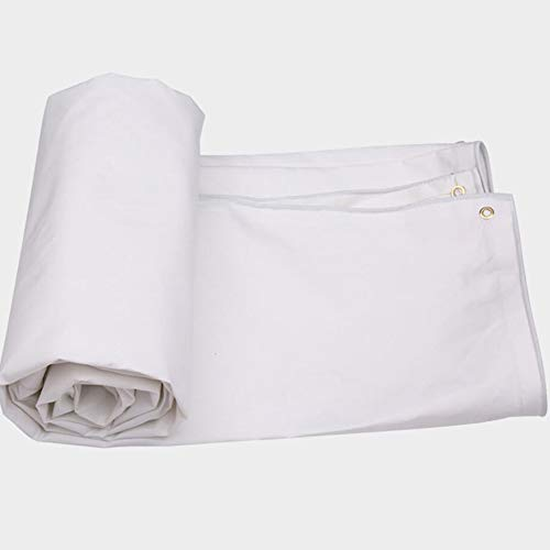 Toile De Protection Solaire Imperméable Double Face, Épaisse, Imperméable, Extérieure, 550 G/M², Blanc, 7 Tailles (Taille : 6X4m)