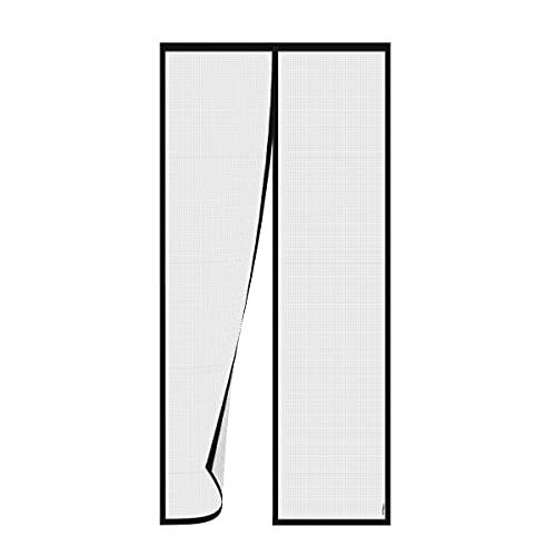 PHILORN Puerta de mosquitera magnética, protección contra insectos, mosquitera, cortina magnética para puerta de balcón, cortina de mosquitera de fibra de vidrio con banda magnética completa (