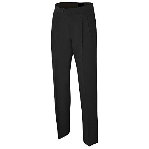 ADAMS USA admbs271–36-bk Schiedsrichter Basketball Bundfaltenhose Poly/Spandex Uniform Hose, schwarz, Size36