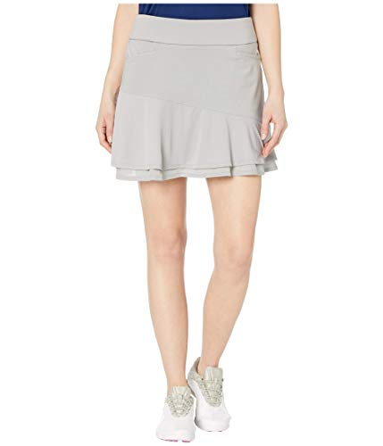 Adidas Falda de Punto para Mujer Ultimate365, Ultimate365 Falda de Punto con Volantes, Gris sólido, X-Large
