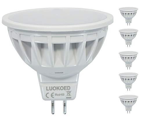 Mr16 LED Lampe Ersetzt 50W Gu5.3 Halogen Kalt Weiss 6000K 500-550lm LUOKOED® 5er Pack