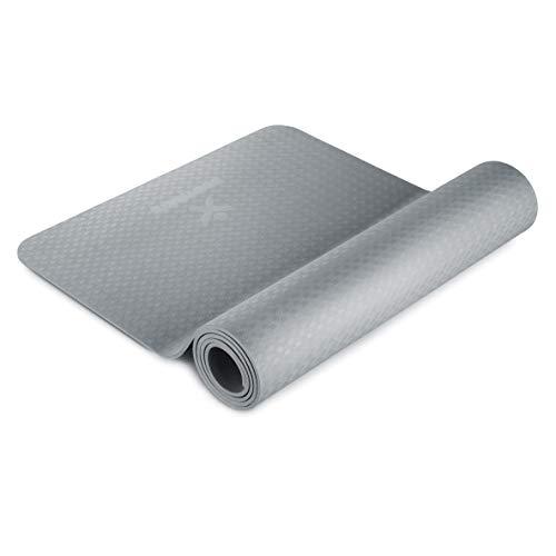 BODYMATE Esterilla de Yoga Premium de TPE | Tamaño 183x61 cm | Grosor 6 mm | Libre de ftalatos, BPA y Metales Pesados | Esterilla para Fitness, Yoga, Pilates, Entrenamiento Funcional
