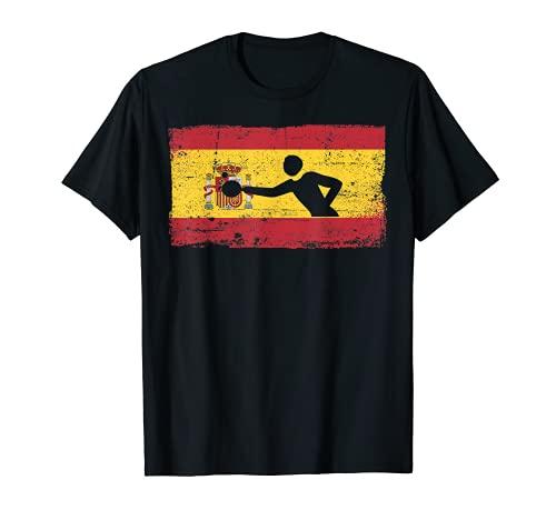 Bandera España Patriótica España Ping Pong Tenis Mesa Camiseta