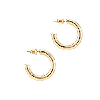 Best thick gold hoops Reviews