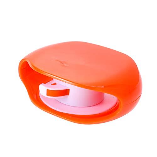 POPETPOP Organizador de Cable para Auriculares Caja de Almacenamiento para Auriculares Colorida Cable Enrollador Automático Organizador de Cable de Datos para Oficina/Hogar (Naranja)