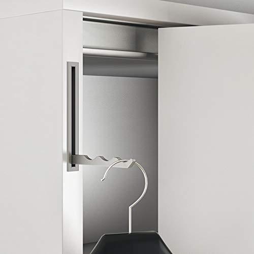 Gedotec Klapphaken Edelstahl Garderobe Kleiderhaken klappbar Kleiderlüfter - 8020 | Haken zum Einlassen im Wand-Paneel | MADE IN GERMANY | Einbauhaken silber matt | 1 Stück - Garderobenhaken versenkt
