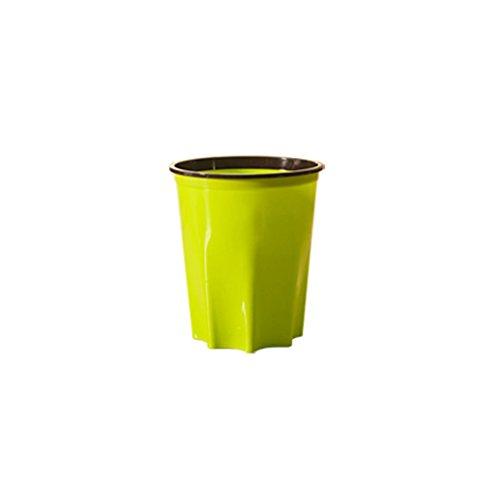 PRIDE Creatieve mode badkamer trash keuken woonkamer huis met druk ring rechthoekige plastic afval (Color : Green, Size : S)