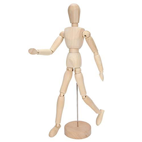 Jeanoko Maniquí de Madera Mini maniquí con Soporte maniquí de Dibujo articulaciones Flexibles Figura Modelo de Artista para Dibujar Pintura