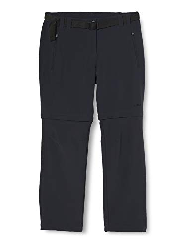 CMP Zip-off 3T51446, Pantaloni Donna, Grigio (Antracite), S