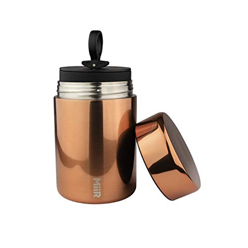 MiiR Stainless Steel Airtight Coffee Canister for Storing Coffee, Tea, Sugar, and More for Home or On The Go - Copper