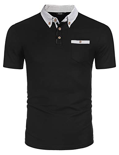 COOFANDY Poloshirt Kurzarm Herren Polohemd Freizeit Polo Shirts Regular Fit Herren Poloshirts mit Brusttasche