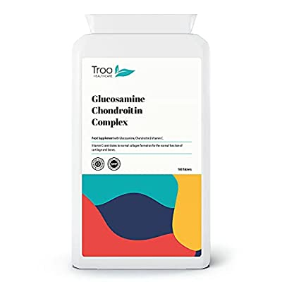 Glucosamine Chondrotin Complex 500mg / 400mg with Vitamin C 180 Tablets - Highly Targetted Fast Absorption Joint Support Supplement