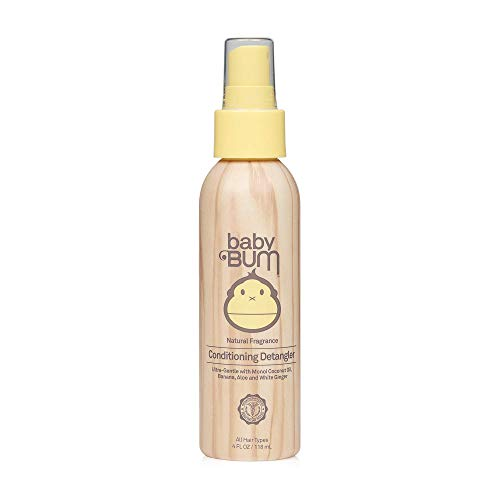Baby Bum Conditioning Detangler Spray | Leave-in Conditioner Treatment with Soothing Coconut Oil| Natural Fragrance | Gluten Free and Vegan | 4 FL OZ