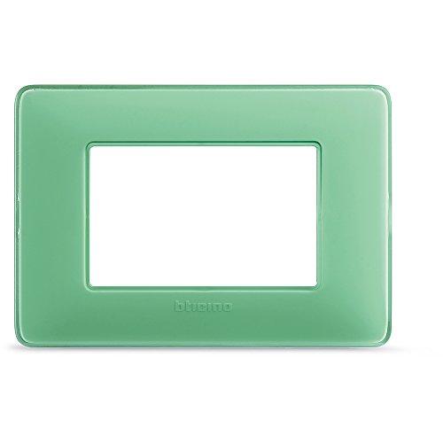 BTicino AM4803CVC Placca 3 Moduli, Te Verde