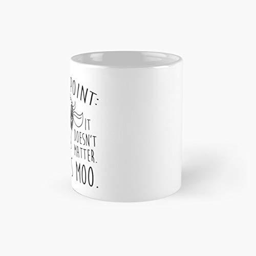 A Moo Point Classic Mug Best Gift Funny Coffee Mugs 11 Oz