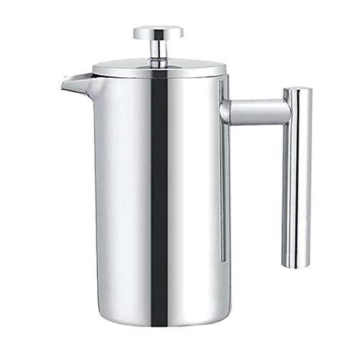 YMMY AYDD 304 Acero Inoxidable Presión Francesa Pote Hecho a Mano Pote de té, Capacidad: 800ml