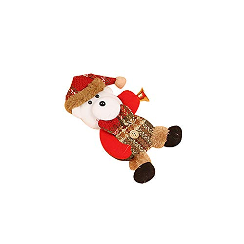 Christmas Home Decor Doll Ornaments Gift Santa Claus Snowman Toy Doll Hang Decorations