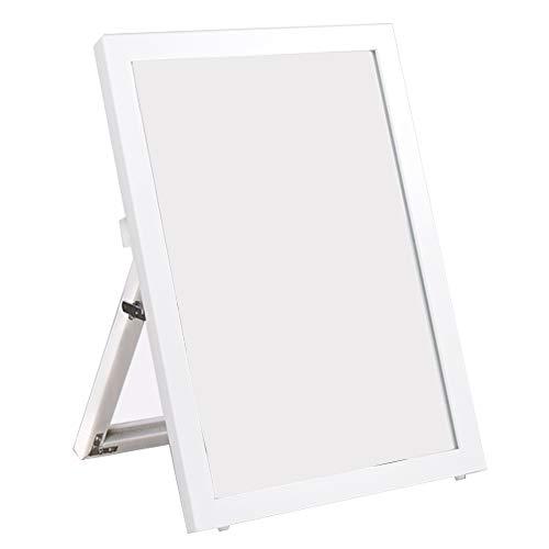 Un espejo ZYJ Zapatería Piso de pie Zapatos Escritorio Maquillaje de Belleza con Soporte 40 * 55cm - Negro, Blanco HD