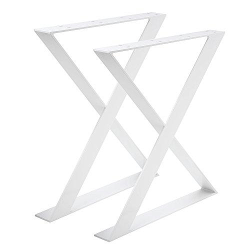 Madera werk24mesa estructura tux504Acero Blanco