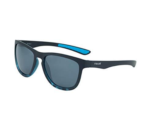 Mawaii - Eclipse 2.0 - Black/Blue transp. / Smoke Grey - Polarized Lenses - inkl. Mikrofaserbeutel
