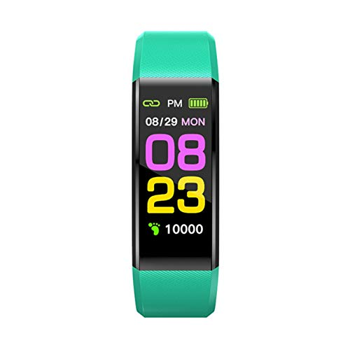 XXY Original MoreFit 115pro Relojes Inteligentes Temperatura Corporal TRACURADORES DE Actividad DE SMARTOS SMARTOS Monitor DE Monitor DE CORAZÓN Pulsera De Accesorios Inteligentes (Color : Green)