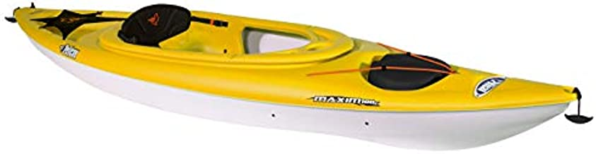 Pelican Maxim 100X Sit-in Recreational Kayak Kayak 10-Foot Lightweight one Person Kayak Perfect for Recreation, Yellow, One Size