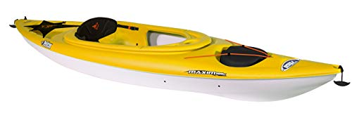 Maxim 100X Sit-in Recreational Kayak | Pelican Kayak 10-Foot Lightweight one Person Kayak Perfect for Recreation