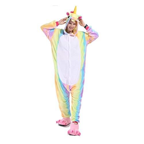 Unisexo Pijama Unicornio Entero Traje Disfraz para Niña Niño Invierno Franela Pijama de Una Pieza Cosplay Carnaval Halloween Navidad