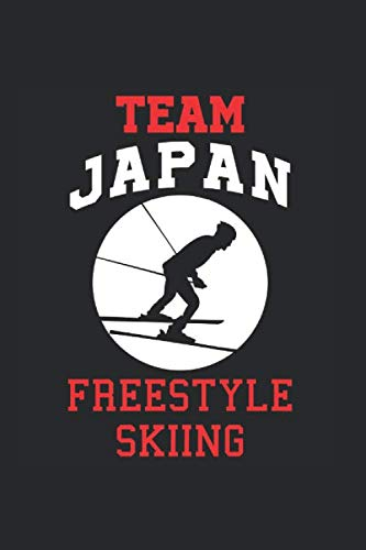 Team Japan Freestyle Skiing: Cool Animated Design For Ski Player Athletes Lover Any Occasion Notebook Composition Book Novelty G