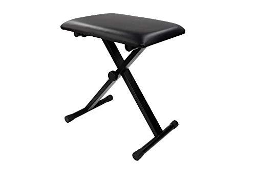 【LR.store】「ピアノ椅子/ キーボード椅子」ピアノ 電子ピアノ キーボード 電子キーボード 3段階高さ調整 高低自在 折り畳み椅子 チェア 椅子 ベンチ 折りたたみ式 滑り止め加工 ブラック キーボード (X型/ブラック)