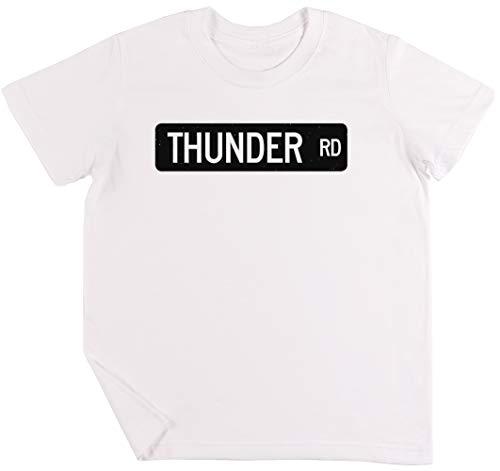 Thunder Road Street SignNiños Chicos Chicas Unisexo Camiseta Blanco